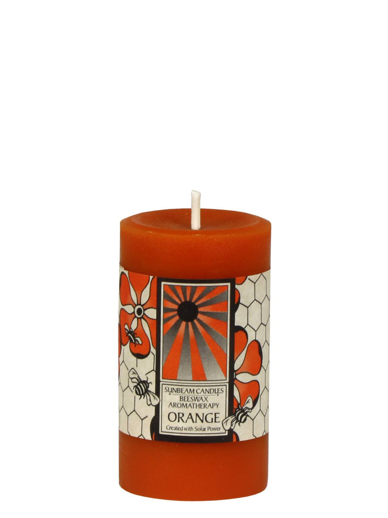 Orange Aromatherapy Pillar | Orange | Beeswax