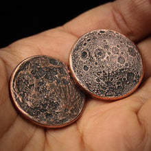 Load image into Gallery viewer, Blood Moon Copper Coin -  Altar Object
