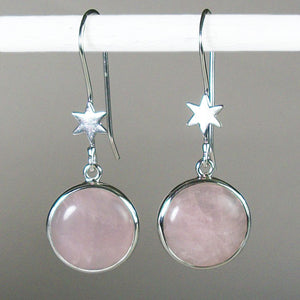 Rose Quartz Starshine Earrings