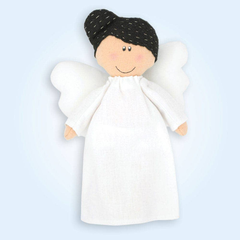 Angel Plush Doll - Girl with Black Hair