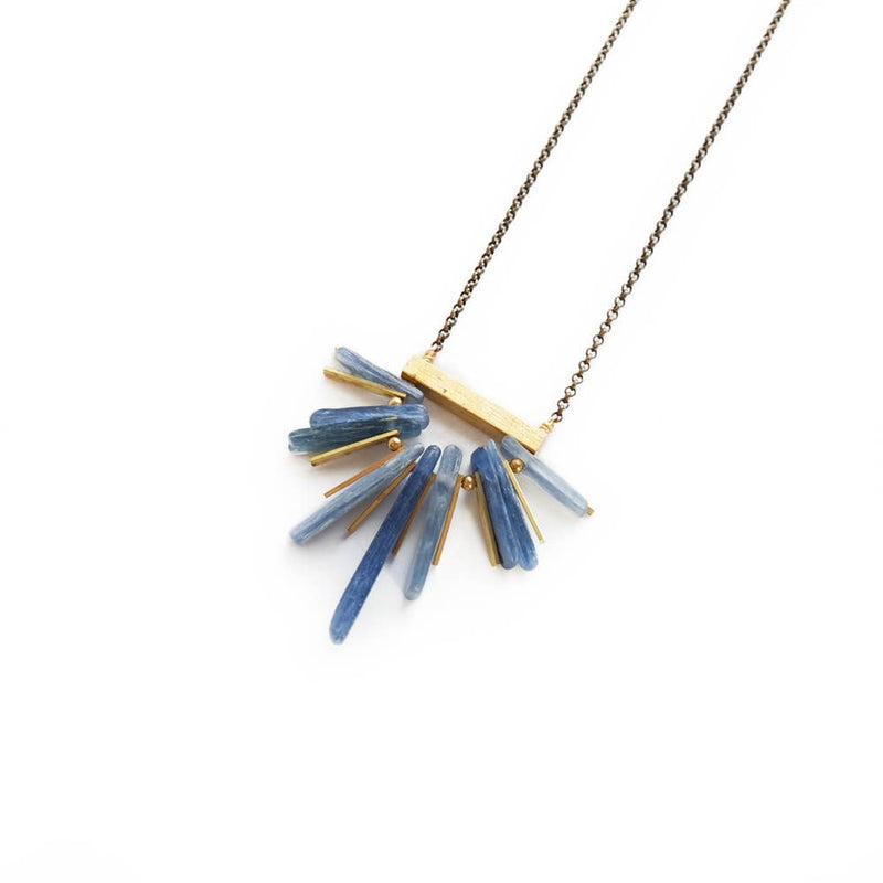 Kyanite Fan Necklace