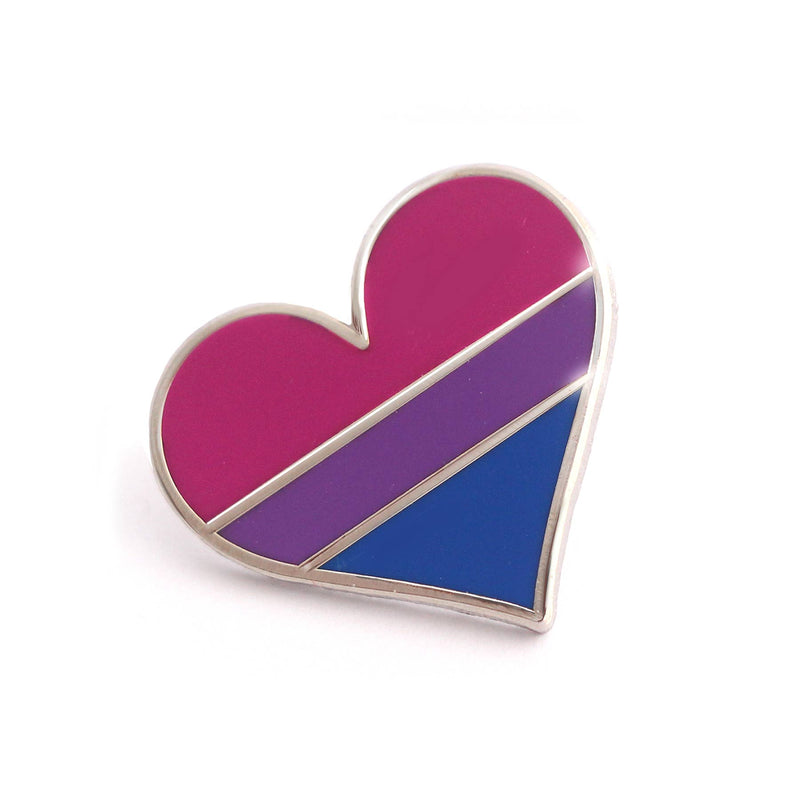 Bisexual Flag Heart Pin