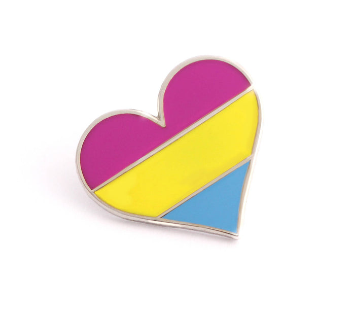 Compoco - Pansexual Flag Heart Pin
