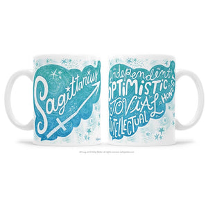 Kathy Weller Art+Ideas - Sagittarius Zodiac Astrology Mug