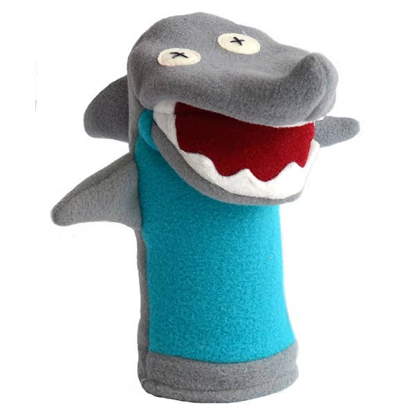 Cate and Levi - Shark Softy Puppet