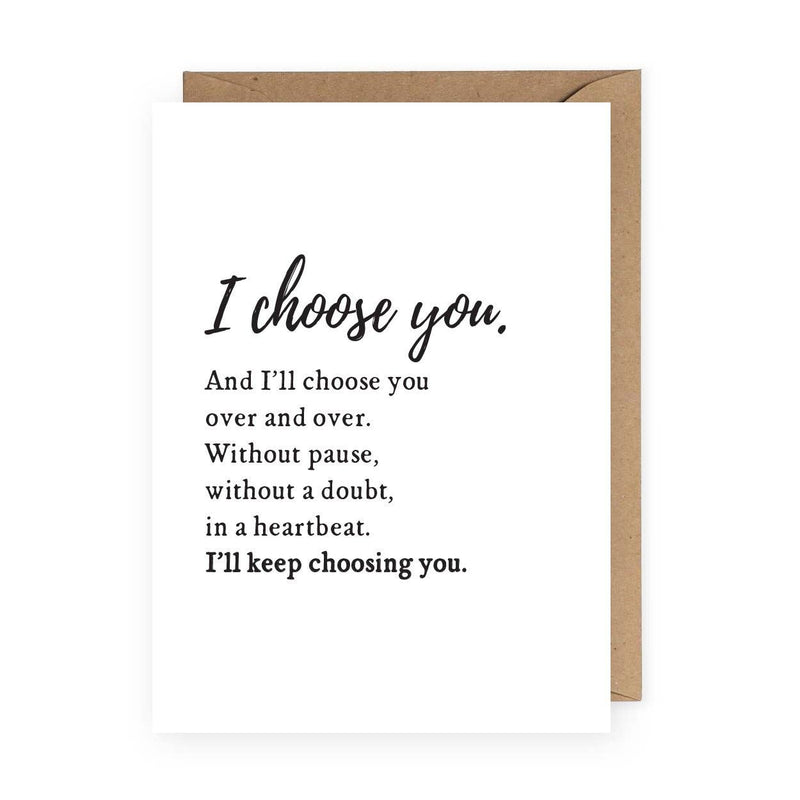 I Choose You Greeting Card | Anniversary Card