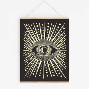 Native Bear - Seeing Eye Art Print, 11x14