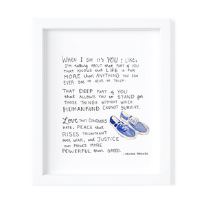 Kimothy Joy - Mister Rogers: When I say it's you I like - Prints