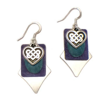 Tender Heart Celtic Knot Weave Colorful Earrings