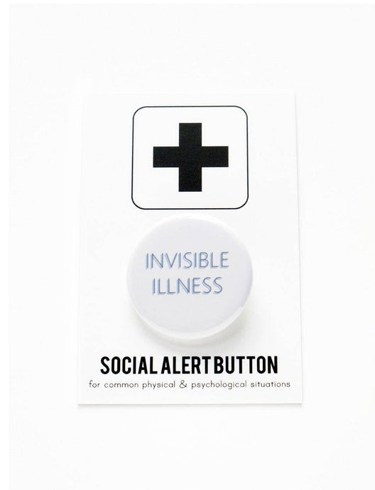 WORD FOR WORD factory - INVISIBLE ILLNESS button
