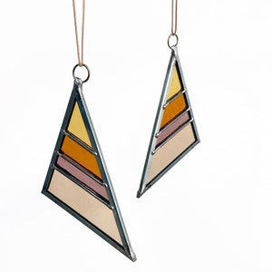 Debbie Bean - Small Stained Glass Triangle - Summer