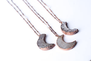 Hawkhouse - Druzy Moon Necklace