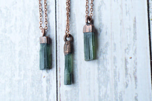Hawkhouse - Green Tourmaline Crystal Necklace