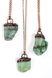 Hawkhouse - Emerald Crystal Necklace