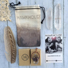 Load image into Gallery viewer, Hawkhouse - Smokey Quartz Crystal Keychain