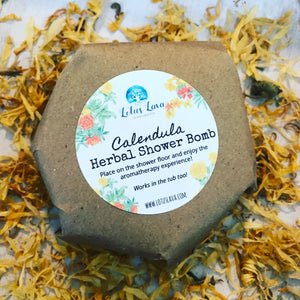 Lotus Lava - Calendula & Lemon Herbal Shower Bomb