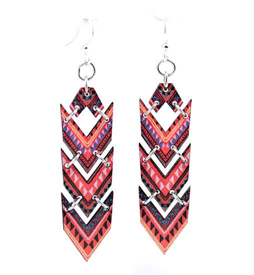 African Chevron Earrings