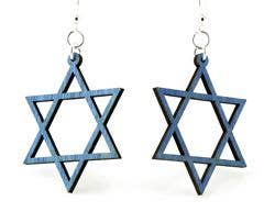 Green Tree Jewelry - Jewish Star Earrings