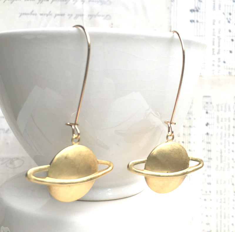 Planet Earrings Saturn Earrings Astronomer Science