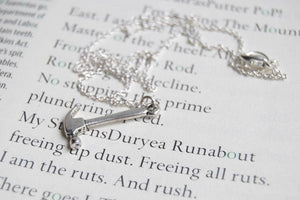 "Enchanted Leaves - 18"" Little Silver Hammer Necklace"