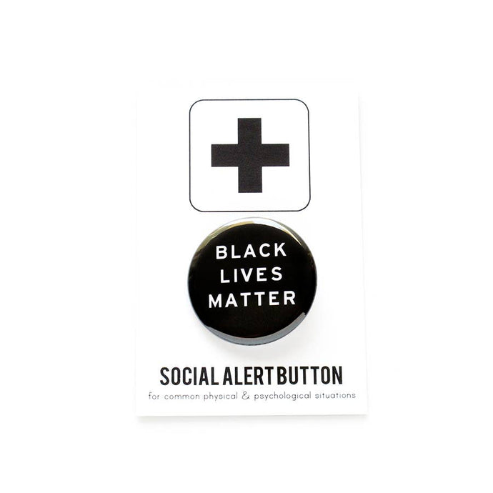 WORD FOR WORD factory - BLACK LIVES MATTER button