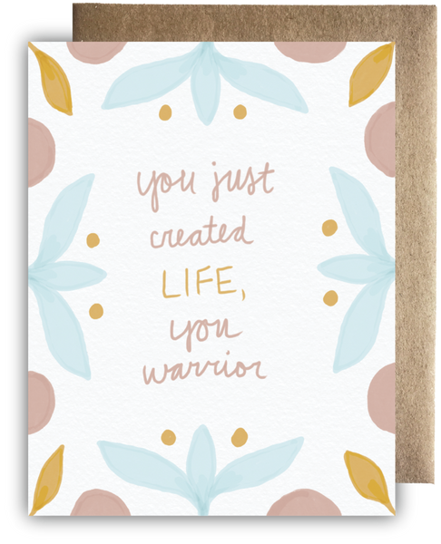 Warrior Momma Greeting Card