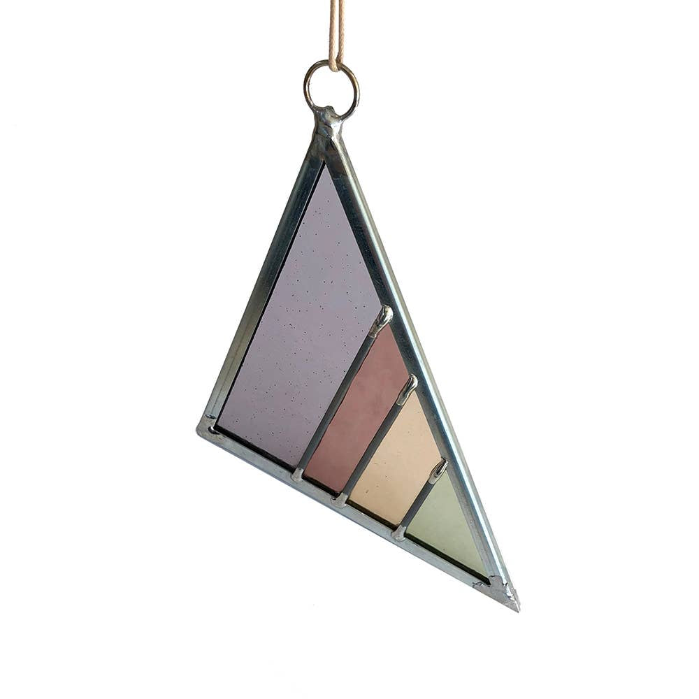 Debbie Bean - Large Stained Glass Triangle - Violet