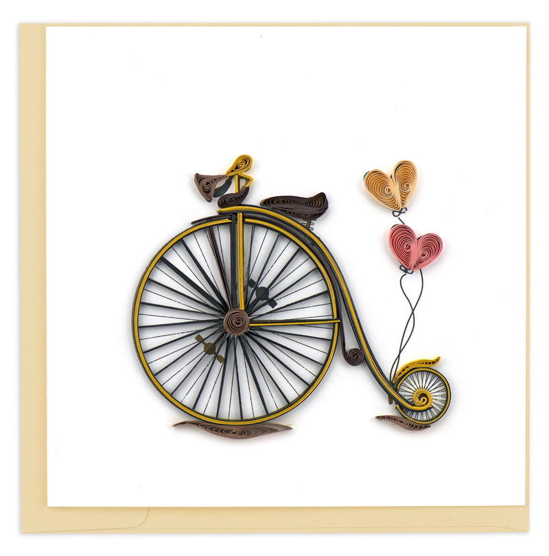 Vintage Bicycle Quilling Card