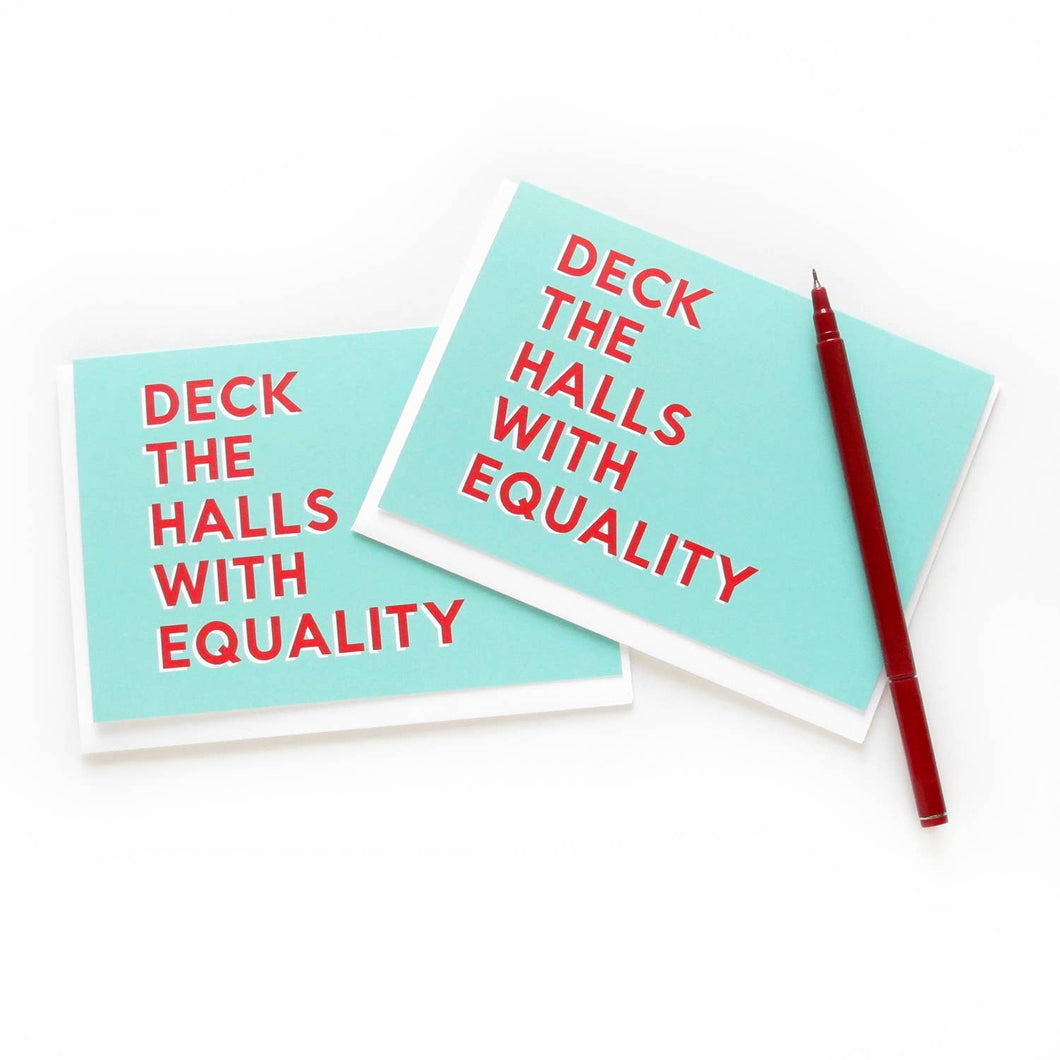WORD FOR WORD factory - DECK THE HALLS WITH EQUALITY Holiday Christmas Cards