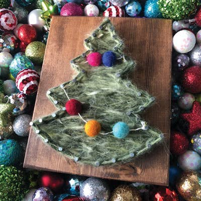 Christmas Tree Mini String Art Kit - DIY Christmas