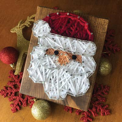 Strung by Shawna - Santa Mini String Art Kit - DIY Christmas