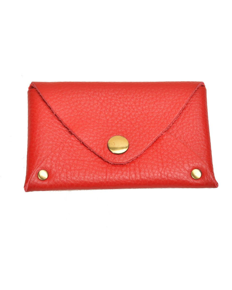 Colorful Leather Pouch | Red