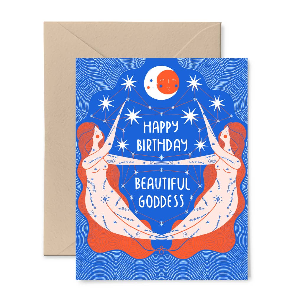 Gingiber - Birthday Goddess Card