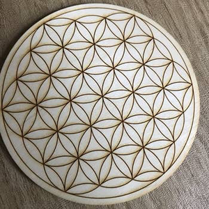 Zen and Meow - Flower of Life Crystal Grid
