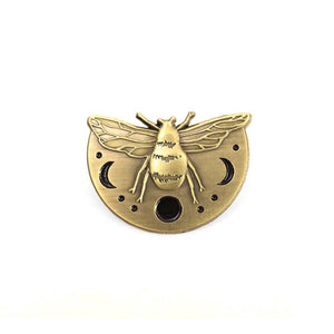 Lost Lust Supply - Lunar Bee Pin by Jess Polanshek