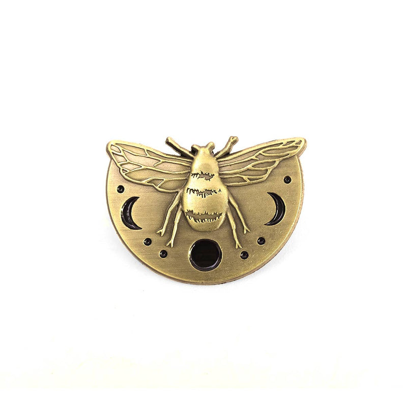 Lunar Bee Pin by Jess Polanshek