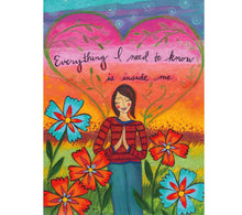 Load image into Gallery viewer, Lori Portka - Happiness Through Art - Everything I Need To Know Magnet