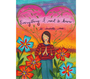 Lori Portka - Happiness Through Art - Everything I Need To Know Magnet