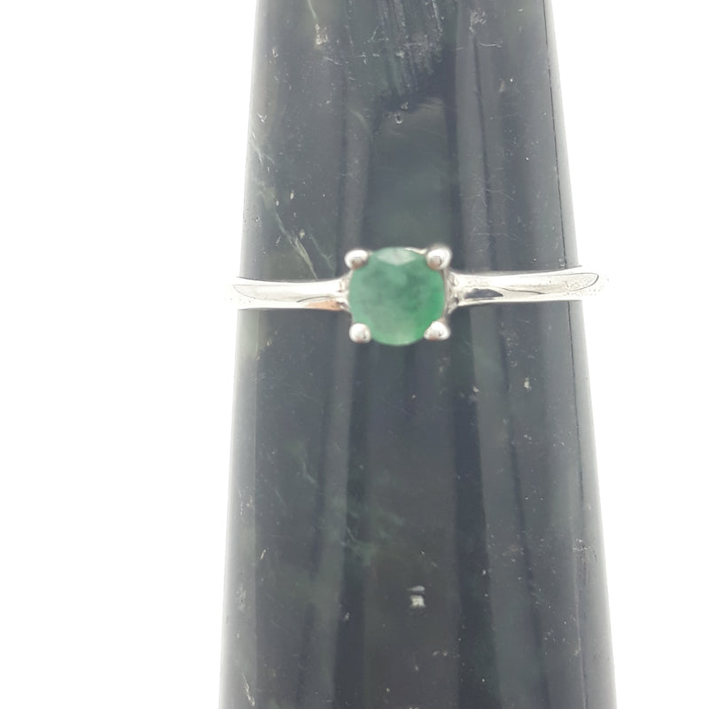 Emerald Unity Ring | Sterling Silver