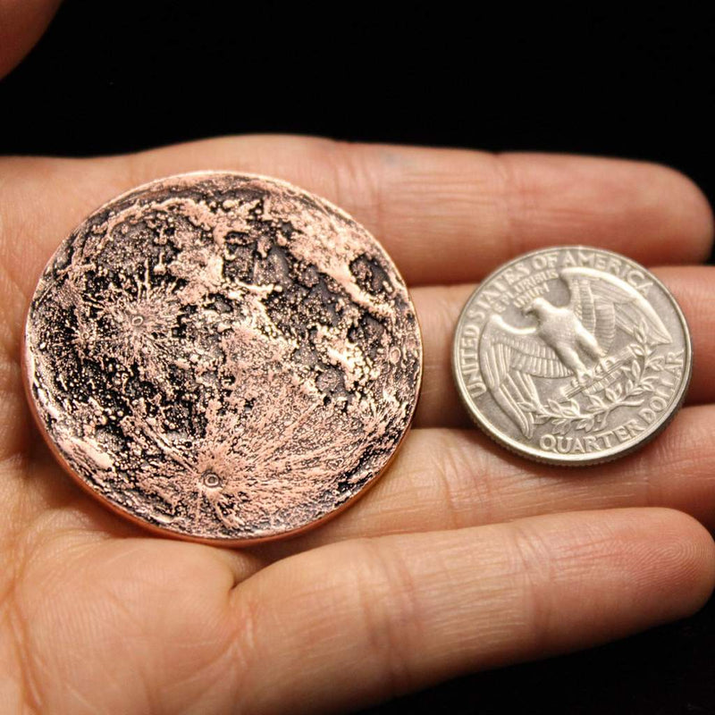 Blood Moon Copper Coin -  Altar Object
