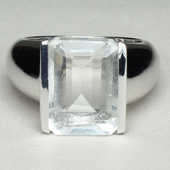 Crystal Quartz Unisex Ring