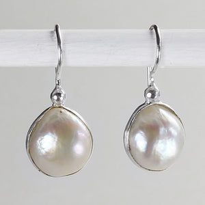 Biwa Pearl Freeform Earrings