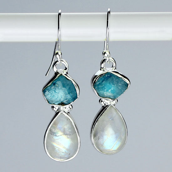 Apatite & Moonstone Earrings