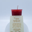 Courage | Red Orange Votive Intention Candle | Reiki Charged