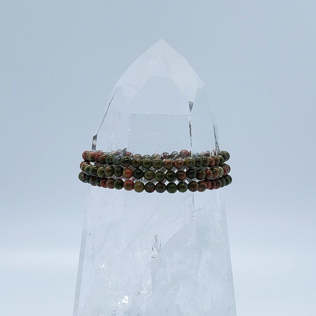 Agate, Botswana | Comfort and Protection | Stone Beaded Bracelet | 4mm | O