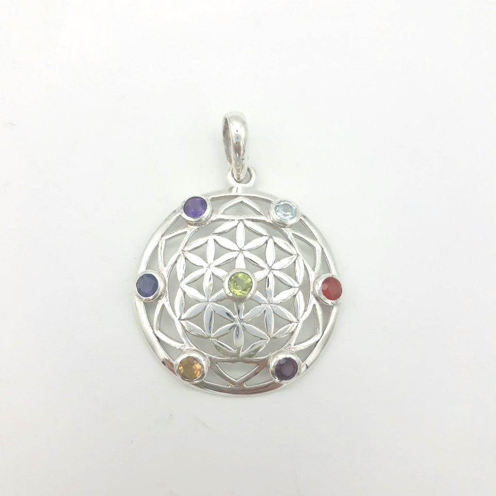 Seed Of Life Chakra Pendant | Sterling Silver | Sterling Silver