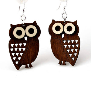 Green Tree Jewelry - Little Hoot Owl Earrings