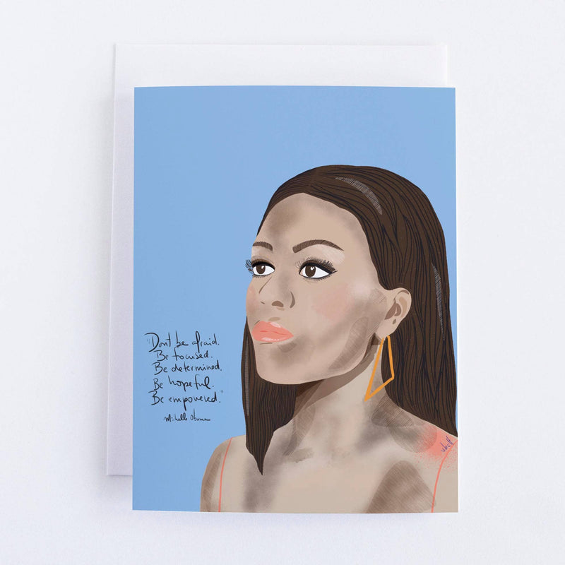 Michelle Obama  Portrait Blank Greeting Card