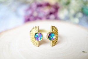 Ann + Joy - Real Pressed Flower and Resin Ring