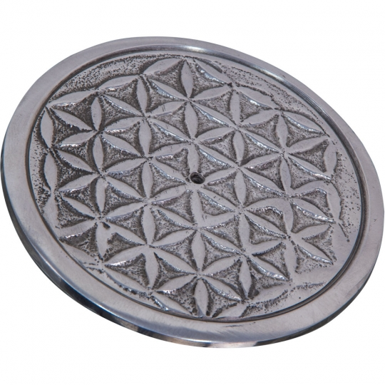 Flower of Life Aluminum Incense Burner